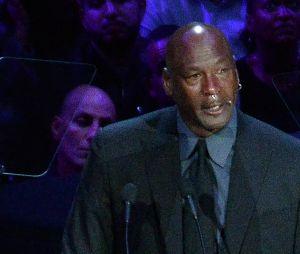 Michael Jordan en larmes pour dire adieu à Kobe Bryant et sa fille Gianna le 24 février 2020 au Staples Center de Los Angeles