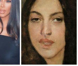 Kim Kardashianversion Mona Lisa