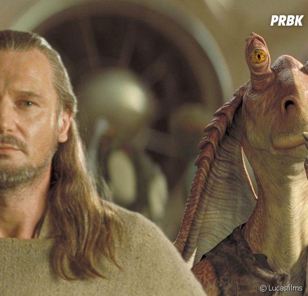 Star Wars : Liam Neeson soutient l'acteur de Jar Jar Binks après les insultes et menaces des fans