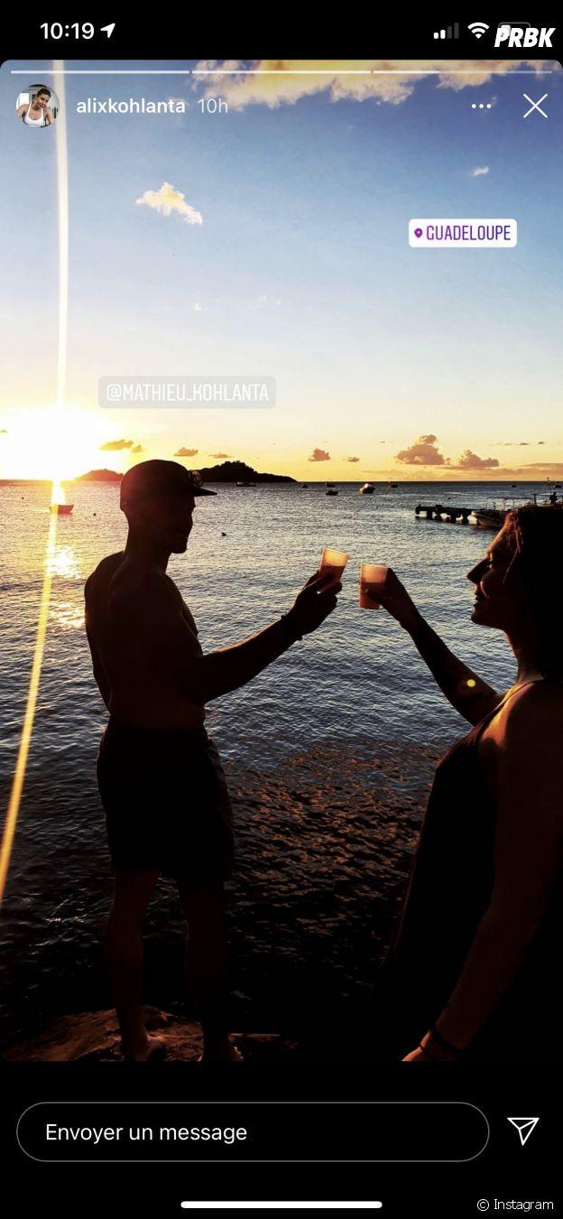 Alix (Koh Lanta 2020) et Mathieu en vacances ensemble en Guadeloupe