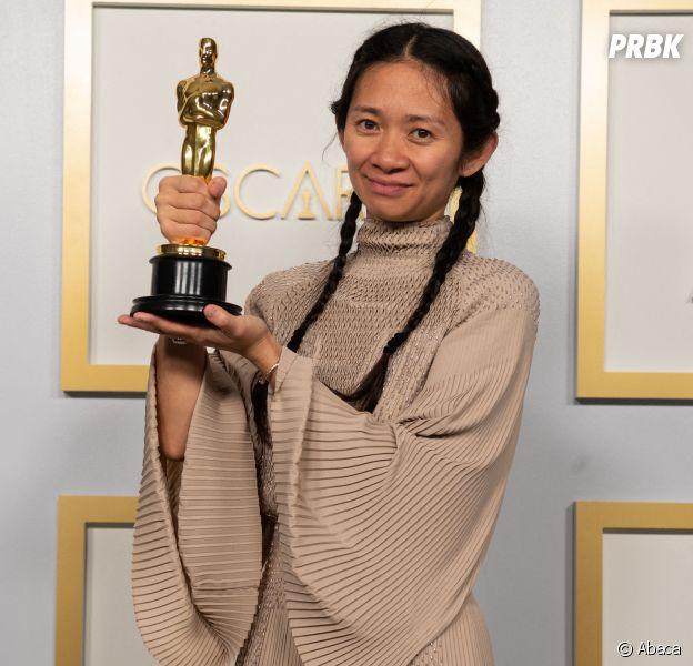Oscars 2021 : Nomadland, Soul et The Father gagnants, le palmarès complet. Ici, Chloe Zhao la réalisatrice de Nomadland