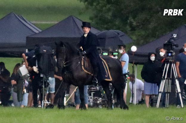 La Chronique des Bridgerton saison 2 : Anthony (Jonathan Bailey) sur le tournage sur le tournage le 3 juin 2021