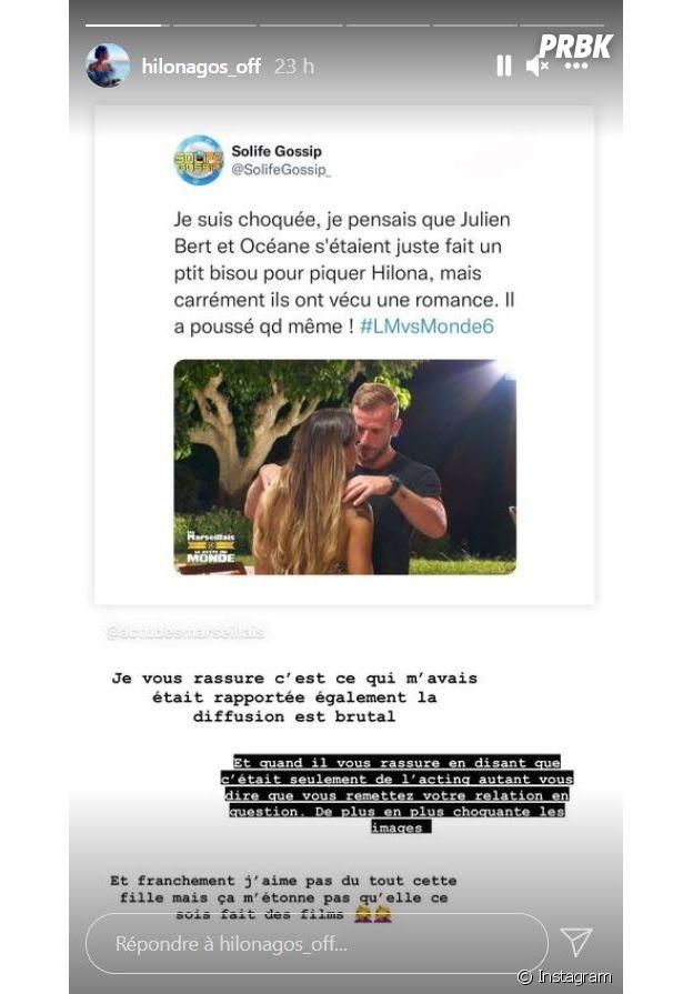 Les Marseillais VS Le Reste du Monde 6 : Julien Bert et Océane El Himer en couple dans les épisodes, Hilona Gos clashe encore son ex et défend presque Océane