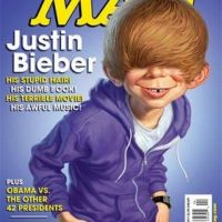 Justin Bieber ... Caricaturé en couverture d'un magazine (photo)