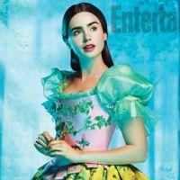 Lily Collins : En costume de Blanche-Neige très coloré (PHOTO)