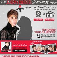 Justin Bieber : Faites-lui un Kiss sur Facebook Under The Mistletoe