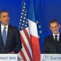 Obama souhaite la bienvenue à Giulia, encense Carla Bruni et taquine Nicolas Sarkozy (VIDEO)