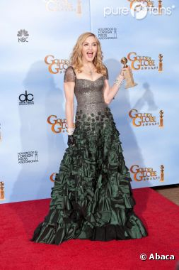 Madonna récompensée aux Golden Globes 2012