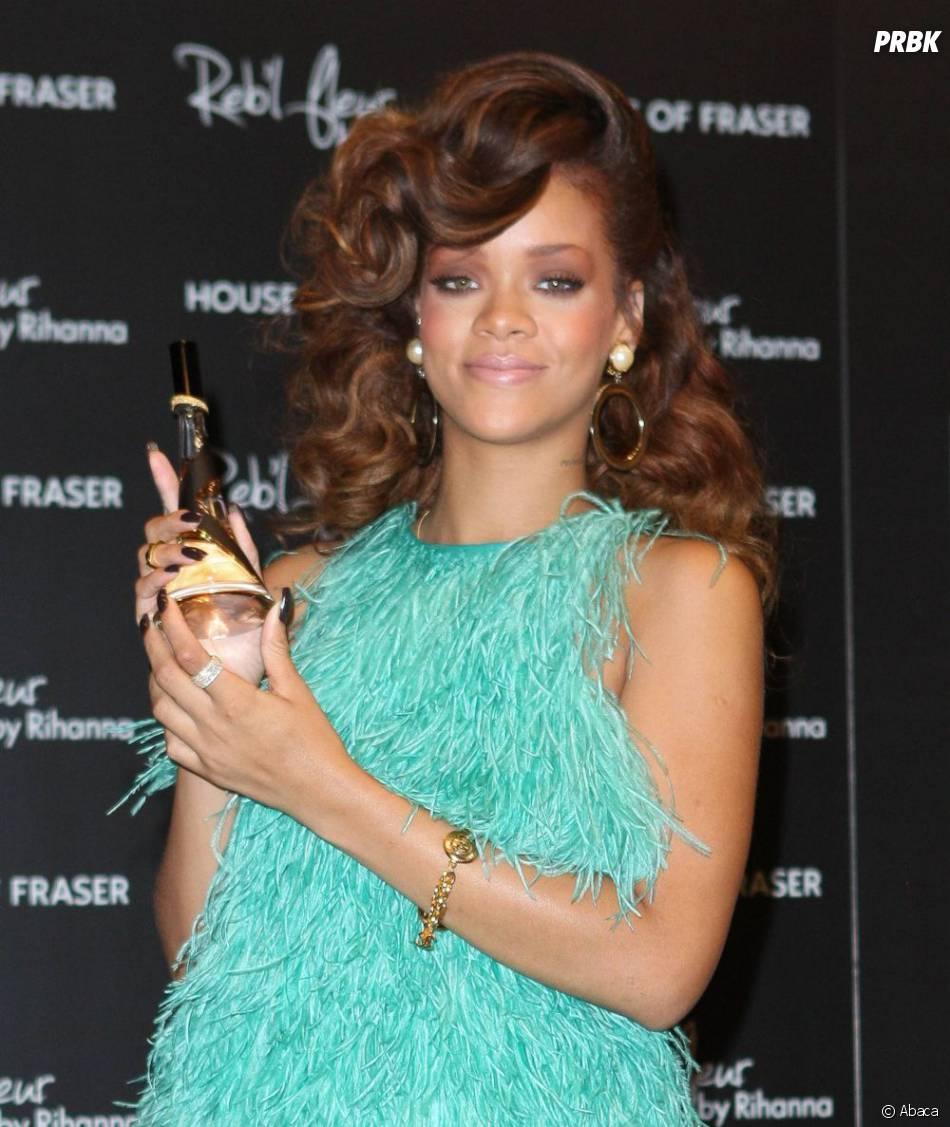 Rihanna à la présentation de son nouveau parfum