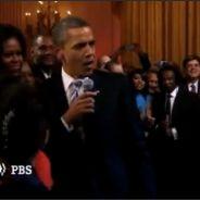 VIDEO BUZZ : Barack Obama chante ! Bientôt la danse, vu qu'il s'entraîne à Just Dance 3 ?