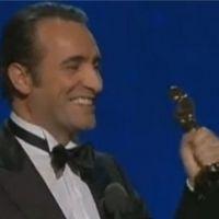 "Jean Dujardin Oscar du Meilleur acteur : ""oh p*tain"" (VIDEO)"