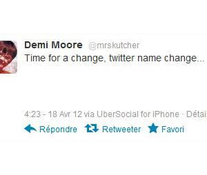 Demi Moore accro de twitter
