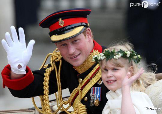 le Prince Harry au mariage de son frère William