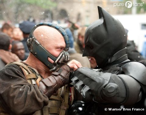 Bane vs Batman dans The Dark Knight Rises