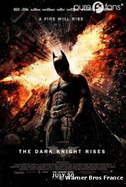 Le nouveau poster enflammé de The Dark Knight Rises