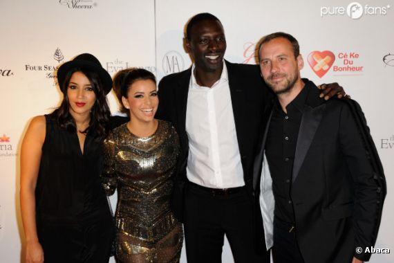 Eva Longoria a passé une bonne soirée avec Omar, Fred et Leïla Bekhti