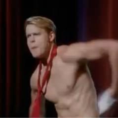 Glee saison 4 : Sam fait tomber la chemise dans l'épisode 3 ! (VIDEO)