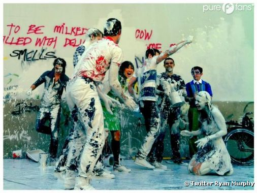 Bataille de peinture dans la saison 4 de Glee !