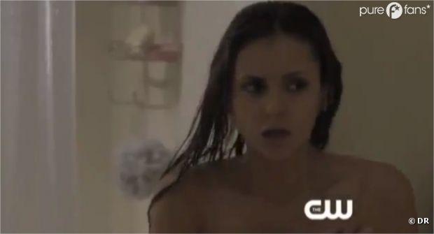 Elena terrorisée par ses visions dans l'épisode 6 de la saison 4 de Vampire Diaries