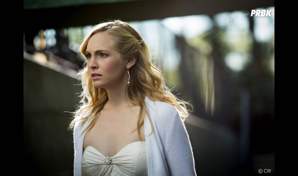 Caroline inquiète dans l'épisode 9 de la saison 4 de Vampire Diaries