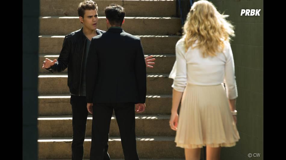 Tensions entre Stefan et Tyler dans Vampire Diaries