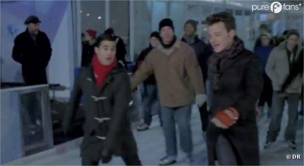 Kurt et Blaine sur la glace dans l'épisode 10 de la saison 4 de Glee