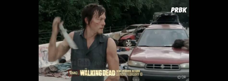 Daryl de The Walking Dead en pleine action