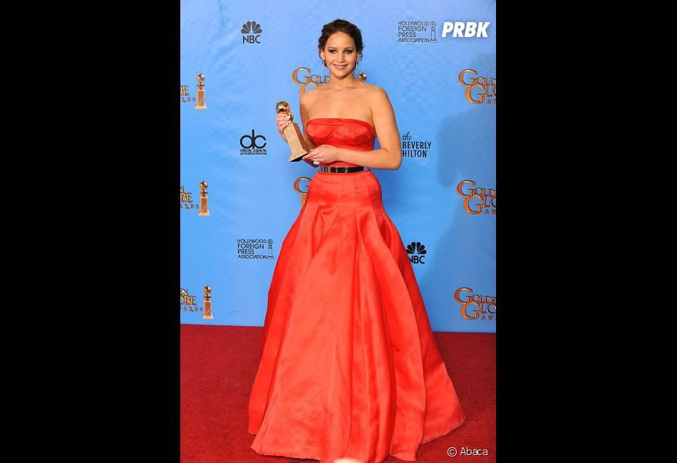 Jennifer Lawrence, meilleure actrice dans une comédie aux Golden Globes 2013