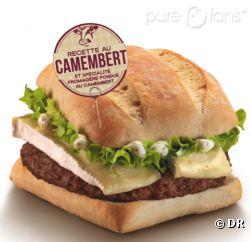 Le Mcdo au camembert pour les fanas de fromage.