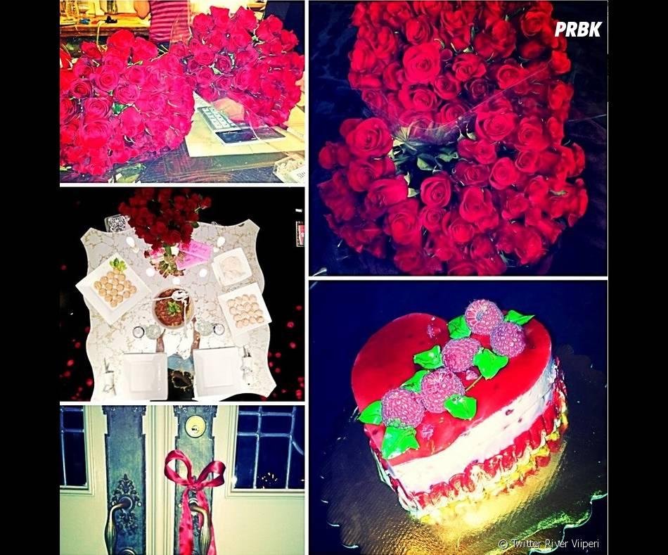 Saint Valentin romantique pour Paris Hilton et River Viiperi
