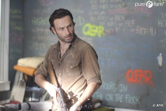 Rick dans une mission périlleuse dans The Walking Dead
