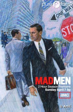 Don Draper voit double sur le poster de la saison 6 de Mad Men