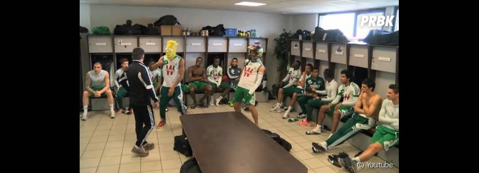 Dans les vestiaires, les joueurs de l'ASSE ont aussi tourné leur Harlem Shake