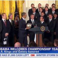Barack Obama se met au foot avec l'ancienne équipe de David Beckham