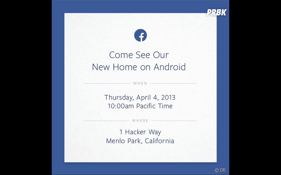 La mystérieuse invitation de Facebook