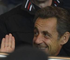 L'ex Président Nicolas Sarkozy a asssité à la victoire du PSG, au parc des Princes le 29 mars 2013