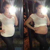 Kim Kardashian enceinte : son bidon exposé sur Instagram