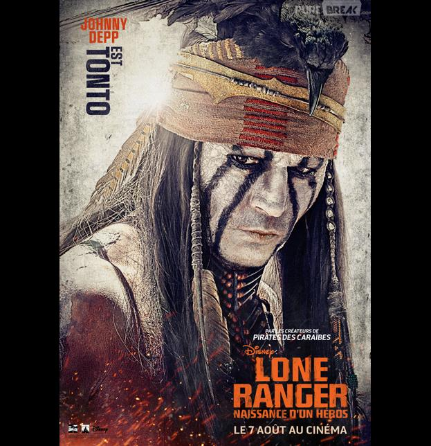 Johnny Depp s'affiche pour The Lone Ranger