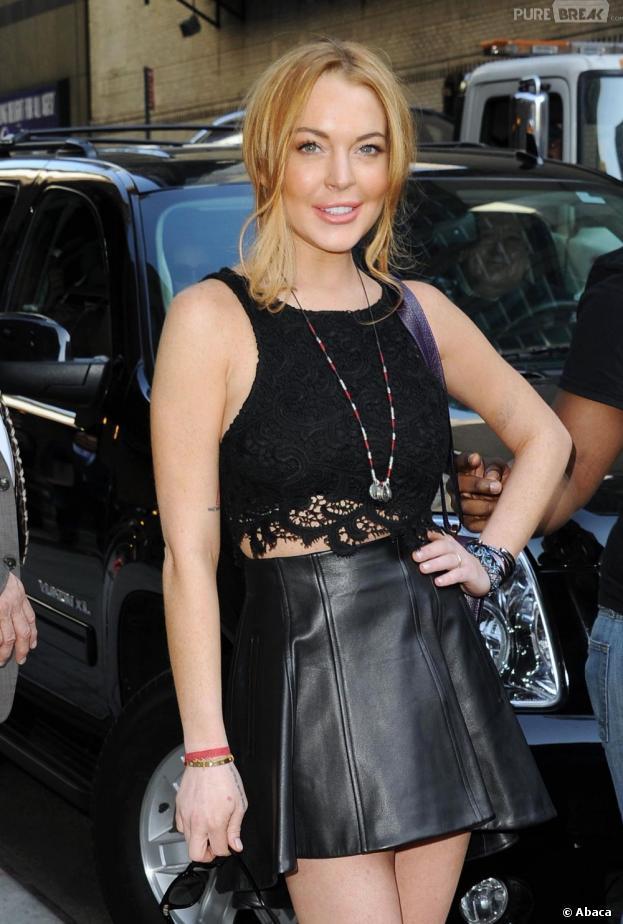 Lindsay Lohan est apparue fraîche et souriante hier