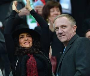 Salma Hayek et François-Henri Pinault, le sourire malgré la défaite
