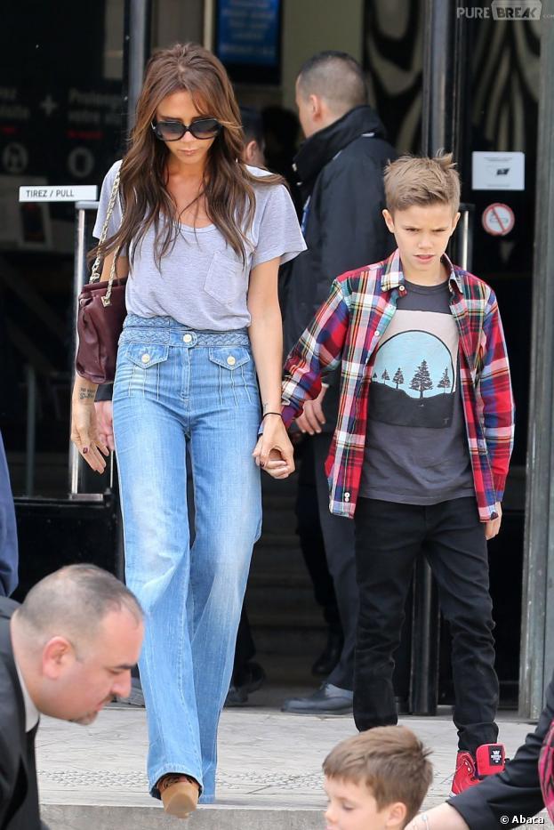 Victoria Beckham et ses enfants en virée à Paris