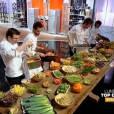 Epluchures et carcasses pour les candidats, en demi finale de Top Chef 2013