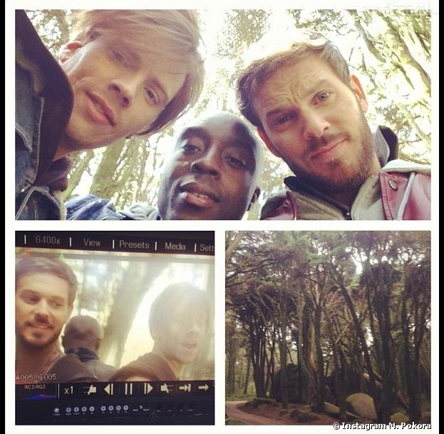 M. Pokora le 22 avril 2013 au Portugal pour le tournage du clip de Robin des Bois