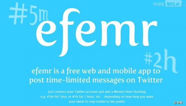 L'application Efemr pour des tweets à durée de vie déterminée
