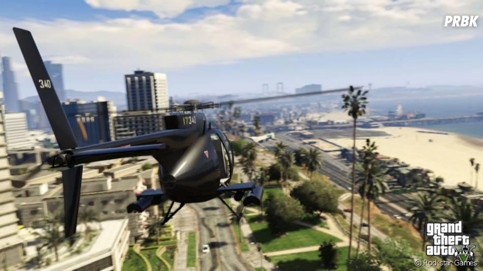 GTA 5 : l'hélicoptère de la partie