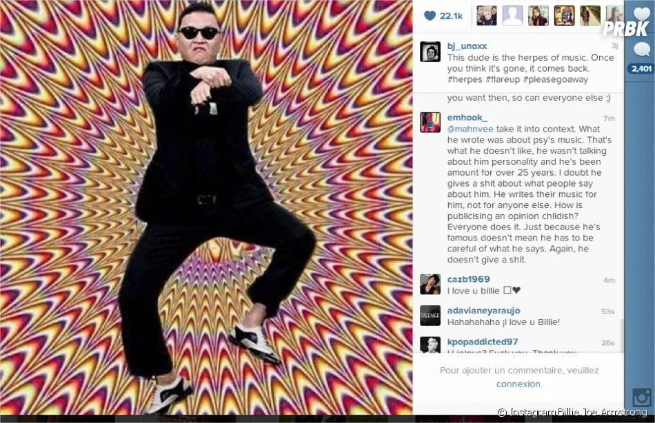 Billy Joe Armstrong clashe Psy sur Instagram