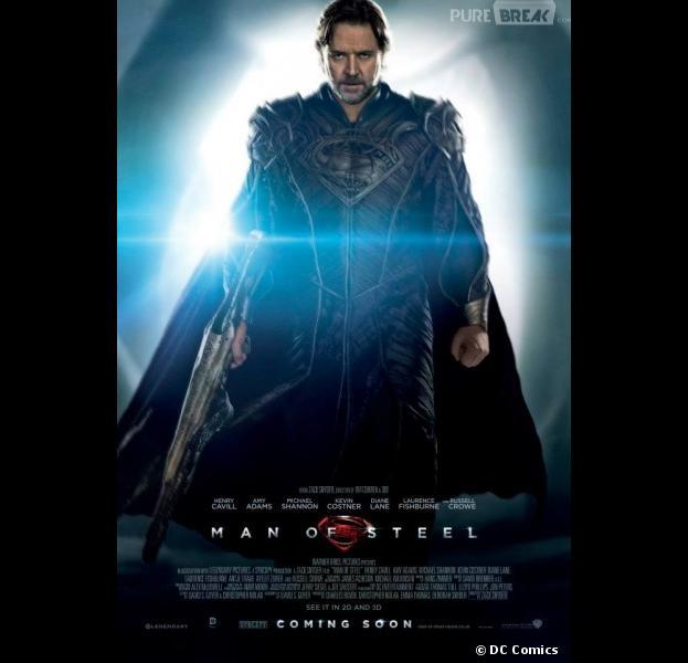Jor-El incarné par Russell Crowe dans Man of Steel
