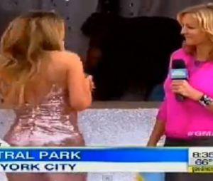 Mariah Carey : petit souci de robe en direct à la télévision US pour GMA