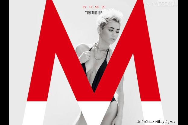 Miley Cyrus très décolletée sur la pchette de son single, We Can't Stop