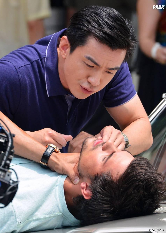 Taylor Lautner tabassé à Chinatown pour les besoins de son film, le 24 juin 2013.